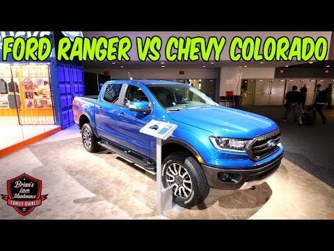 2019 Ford Ranger & 2019 Chevy Colorado Walk Around @ 2019 NAIAS w/ BTBRV