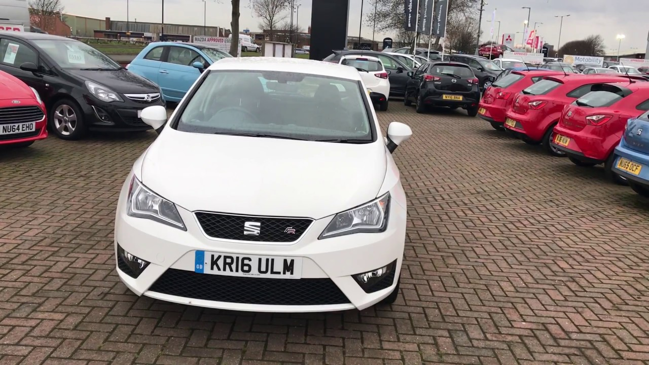 used seat ibiza 1 2 tsi 110 fr technology 5dr white 2016 youtube. Black Bedroom Furniture Sets. Home Design Ideas