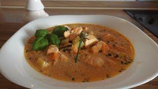 суп с красной рыбой