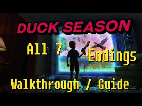 Duck Season - All 7 Endings Walkthrough/Guide (+ Wizard Book) (VR gameplay, no commentary)