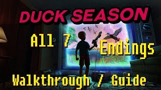 Duck Season - All 7 Endings Walkthrough/Guide (+ Wizard Book) (VR gameplay, no commentary) thumbnail