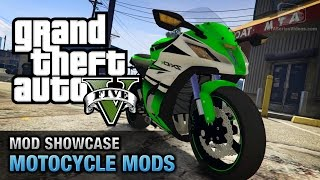 GTA 5 Motorcycle Mods - Kawasaki Ninja ZX-10R, KTM Duke 690, Harley Davidson Fat Boy and More