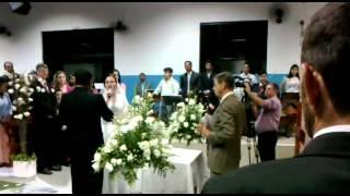 """Hino """"Seguiremos Juntos"""" - Mel e Daniel em seu casamento - 28.09.13"""