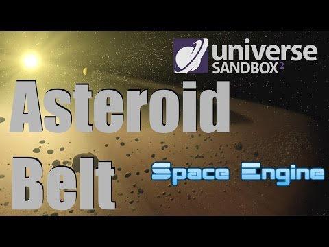 ASTEROID BELT - Ceres/Vesta/Hygiea/Pallas - Space Engine/Uni