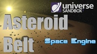 ASTEROID BELT - Ceres/Vesta/Hygiea/Pallas - Space Engine/Universe Sandbox 2