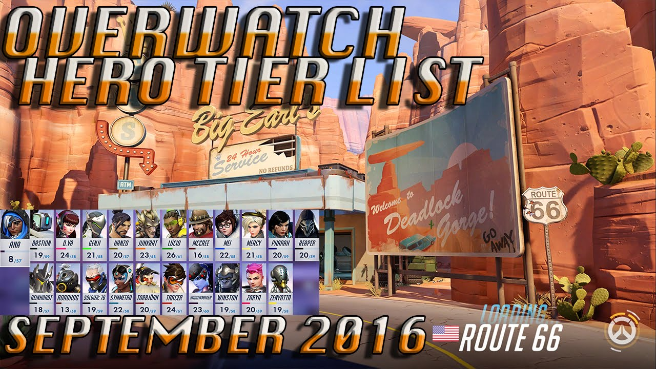 overwatch tier list september 2016 xbox one youtube