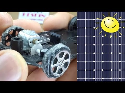 Gear System Solar Power Car Experiment|#2- Güneş enerjili arabaya dişli sistem- Deney2