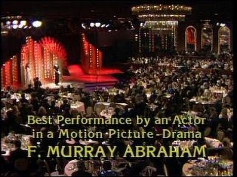 F. Murry Abraham Wins Best Actor Motion Picture Drama - Golden Globes 1985
