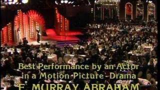 f murry abraham wins best actor motion picture drama golden globes 1985