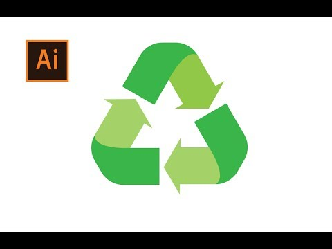 How To Draw A Recycle Logo In Adobe Illustrator Youtube