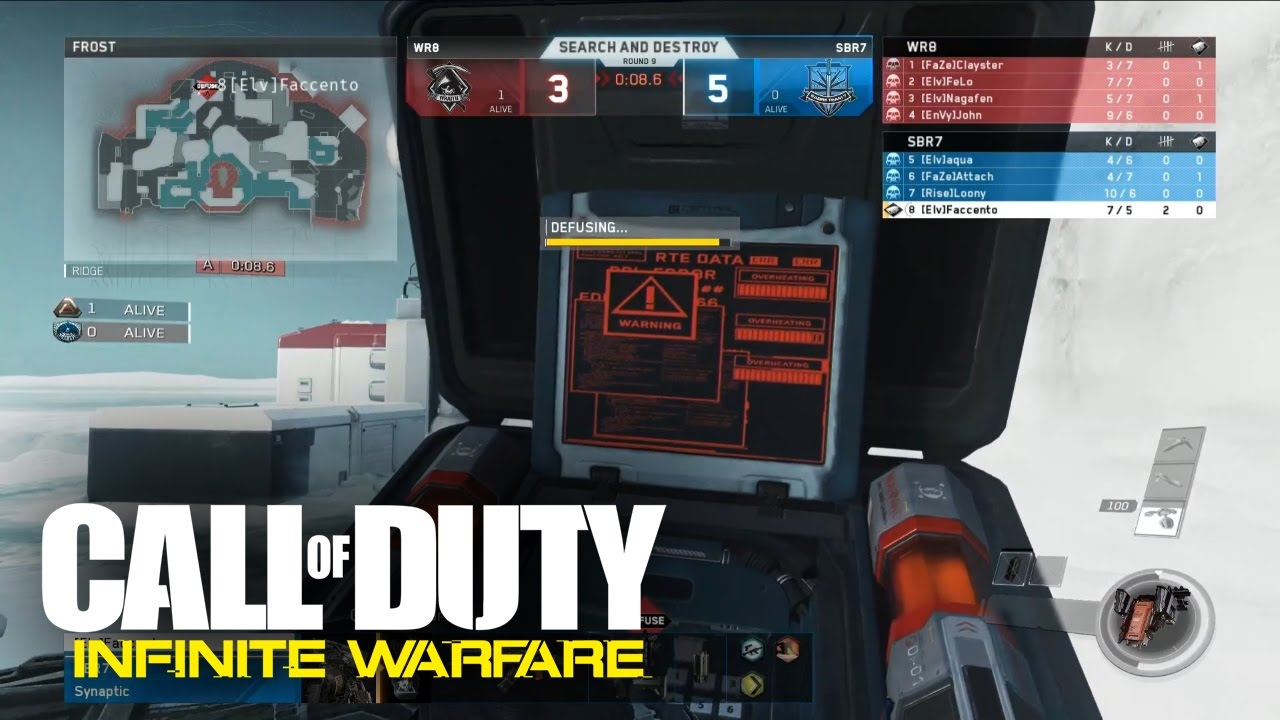 Search And Destroy Gameplay In Infinite Warfare First Snd Match On Frost Youtube