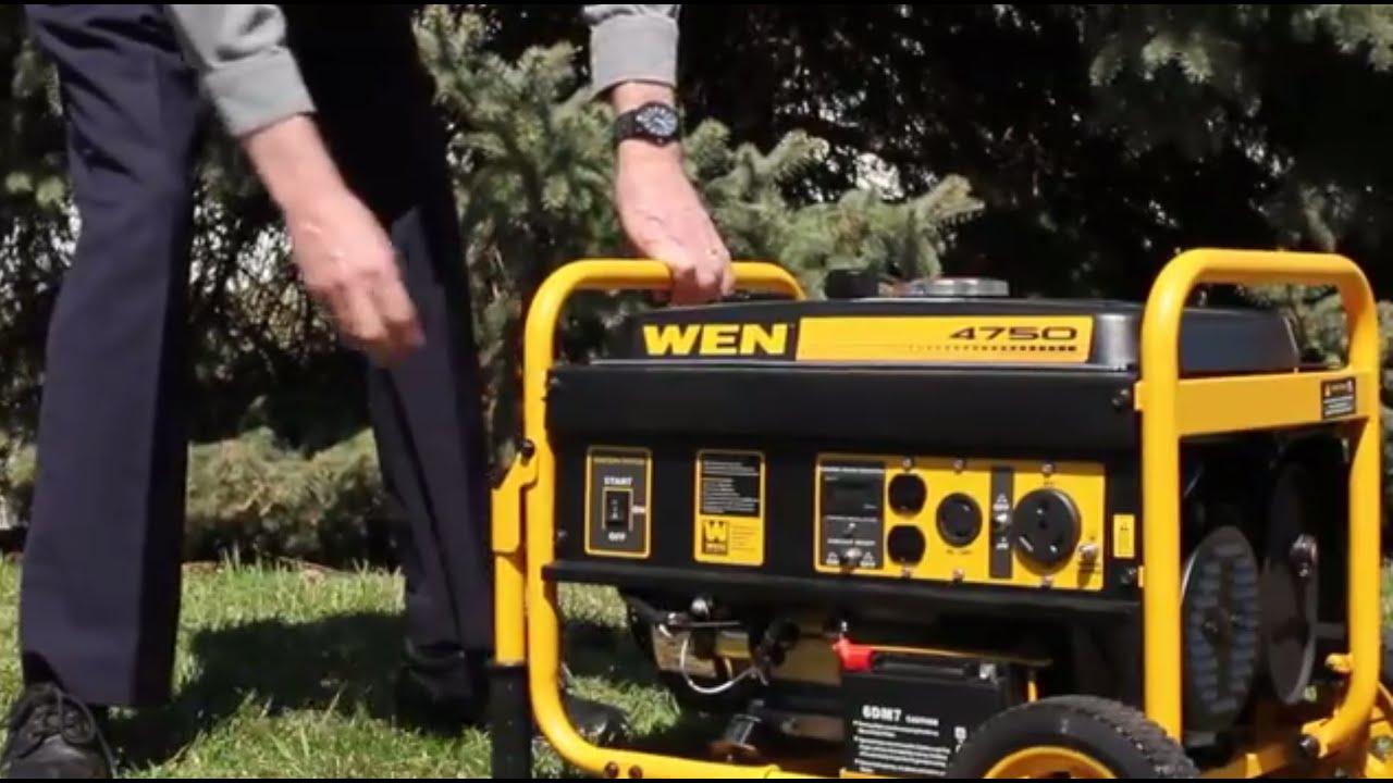 Wen 4750 Watt Generator With Electric Start Product Demonstration