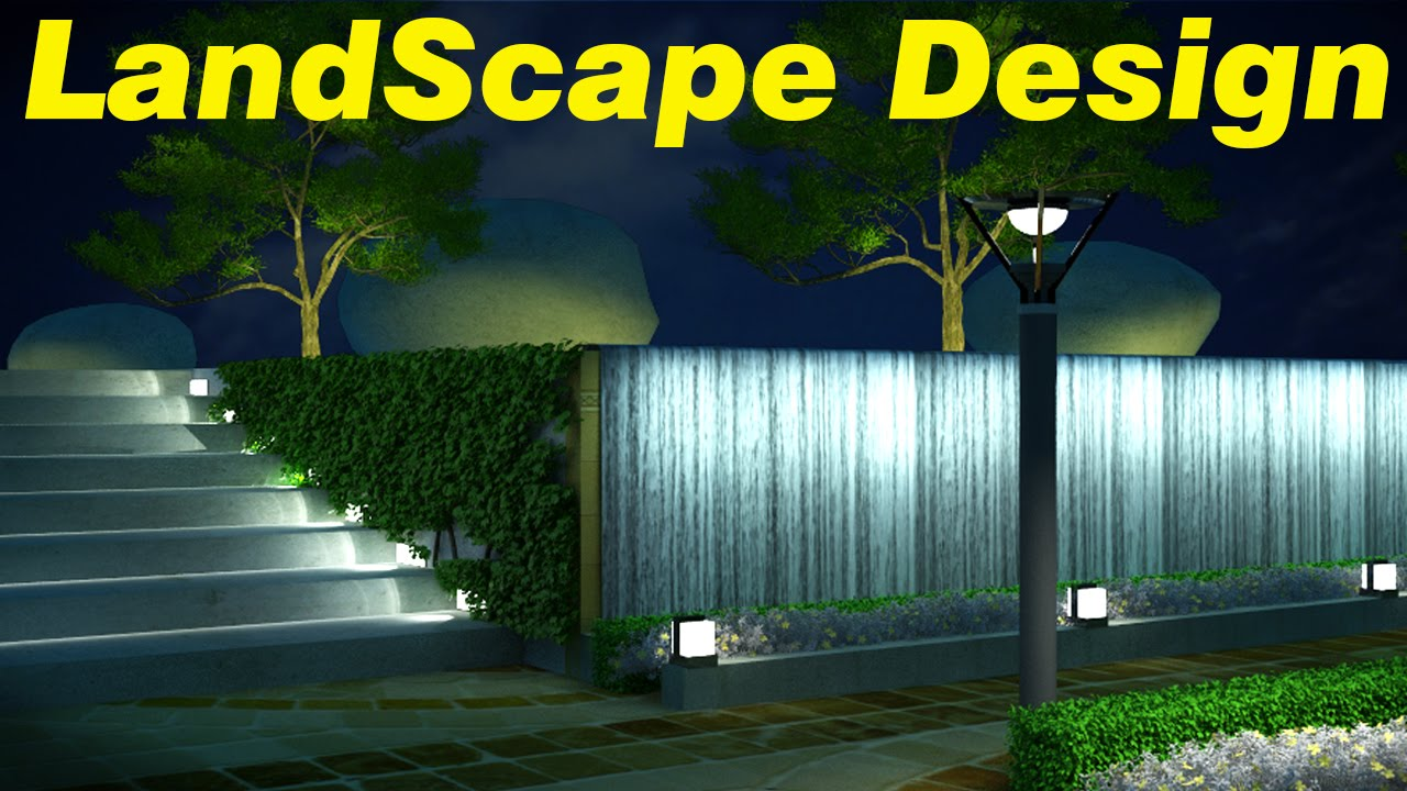 Landscape design in 3d max part 01 youtube for Garden design 3d mac
