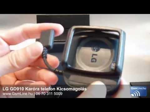 LG GD910 Karóratelefon Kicsomagolás | GsmLine.hu