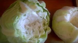 Интересный способ заморозки капусты для голубцов. An interesting way to freeze cabbage for cabbage.