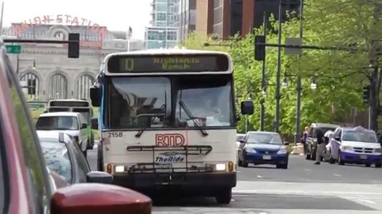 Rtd Denver Orionv Bus 2158 Running Route 0 In Downtown Denver