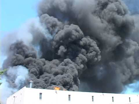 Woodland Park NJ Fire Huge Warehouse 25 Andrews Drive 7/18/2013 West Paterson Fire Dept operating