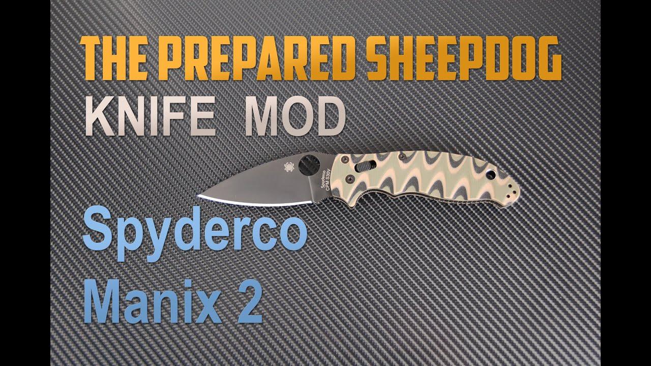 spyderco black manix 2 new camo scales youtube