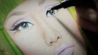 Will Costa Illustration - Drawing Nicki Minaj