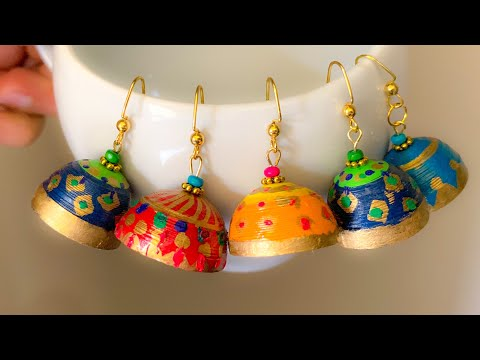 How To Make Quilling Jhumkas|Simple and Easy Quilling Earrings Making |Festive Jhumkas