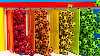 Learn Colors with Soccer Balls and Doors