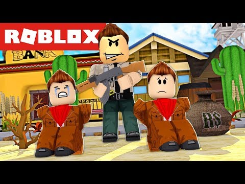 ROBLOX - VIREI SHERIFF Vs Bandido! (Bandit Simulator) (+AQUAMAN EVENT)