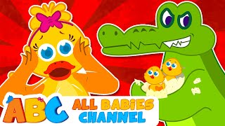 Five Little Ducks VS Evil Crocodile | Nursery Rhymes and Kids Songs By All Babies Channel