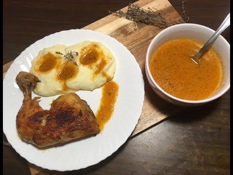purée-de-pomme-de-terre-comme-celle-des-restaurant-avec-une-délicieuse-sauce-rôti-et-un-rôti-mariné