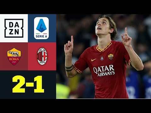 Youngster Zaniolo sorgt für Roma-Sieg: AS Rom - AC Mailand 2:1 | Serie A | DAZN Highlights