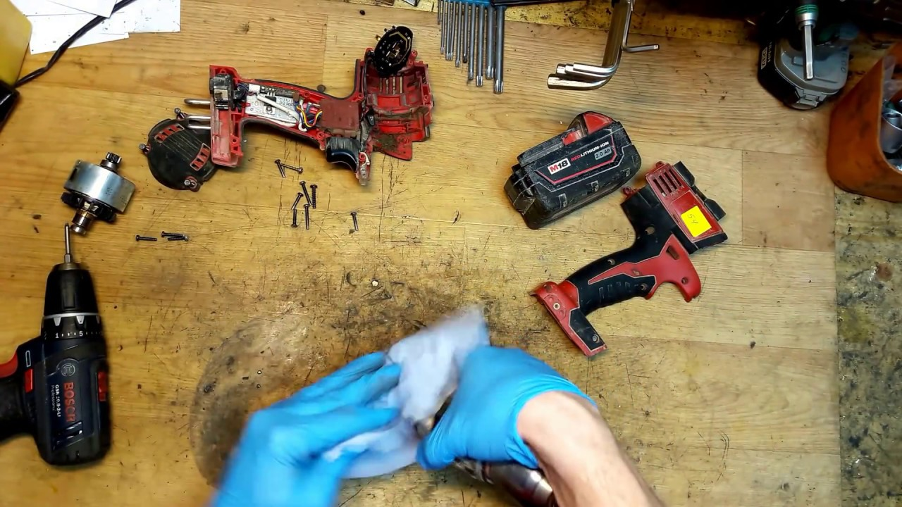 how to disassemble and find problem in milwaukee m18 cordless drill faulty gear assy [ 1280 x 720 Pixel ]