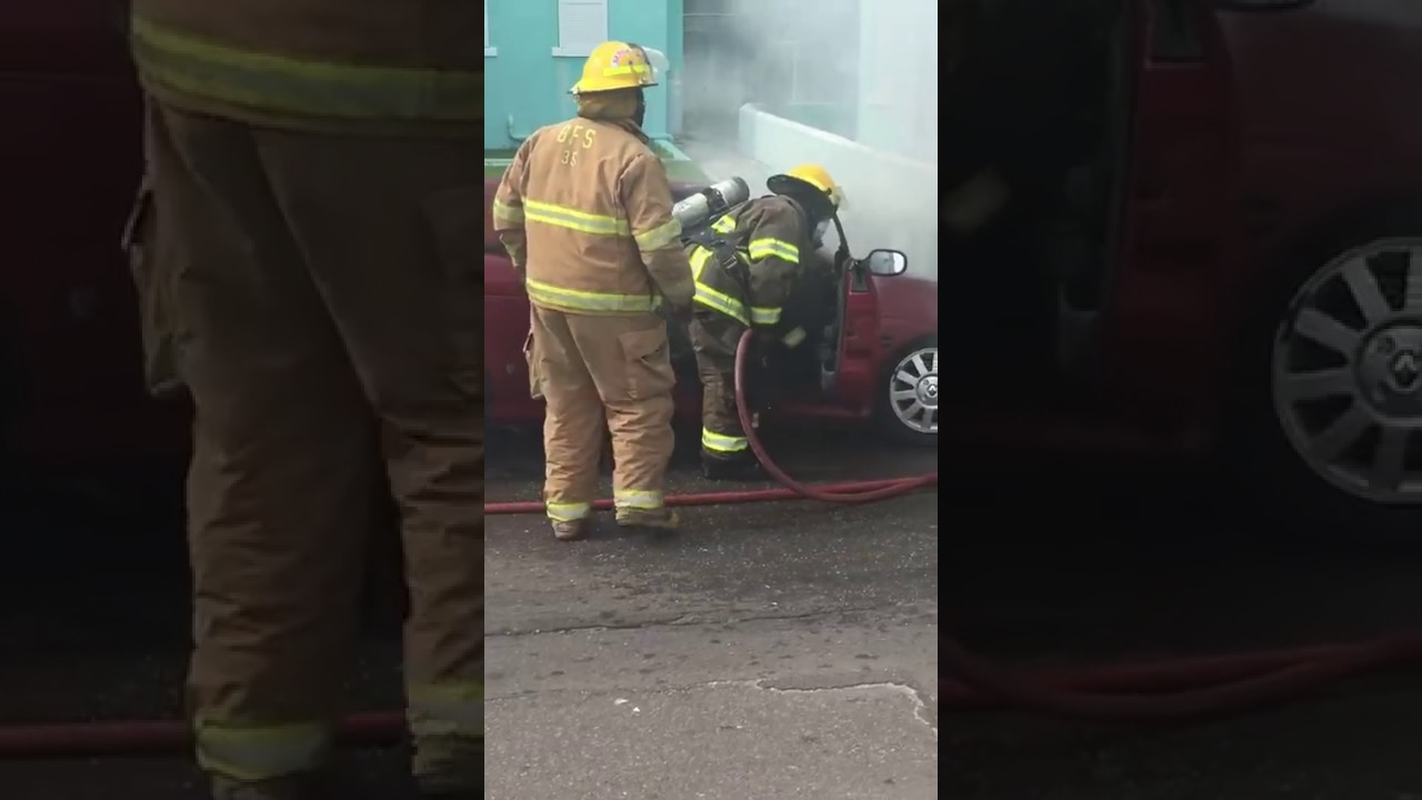 VEHICLE CATCHES FIRE