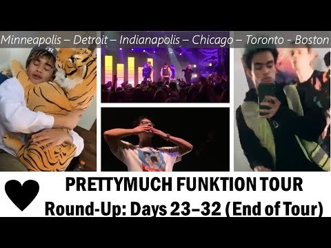 PRETTYMUCH Funktion Tour Round-up: Days 23-32 (End of Tour)