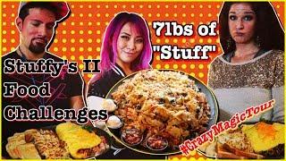 7lb Stuffy's 2 Food Challenges ft. Juan and Sarah   #CrazyMagicTour - RainaisCrazy   Lakeview, WA