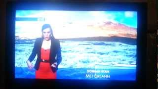 Rte weather girl Siobhan Ryan psyches herself up