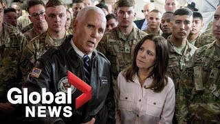 U.S. VP Mike Pence makes surprise trip to Iraq, visits U.S. troops
