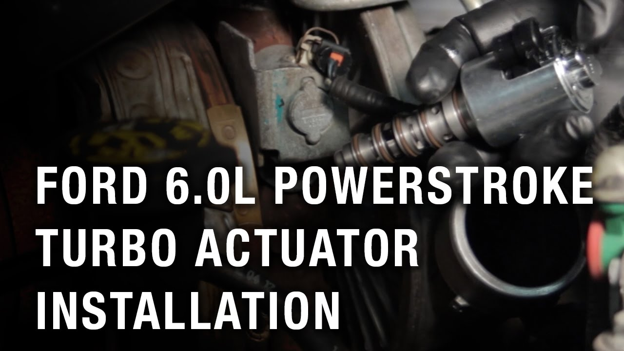 ford 6 0 liter powerstroke turbo actuator installation [ 1280 x 720 Pixel ]