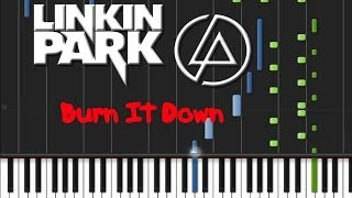 Linkin Park - Burn It Down (♫) (Instrumental + Synthesia)