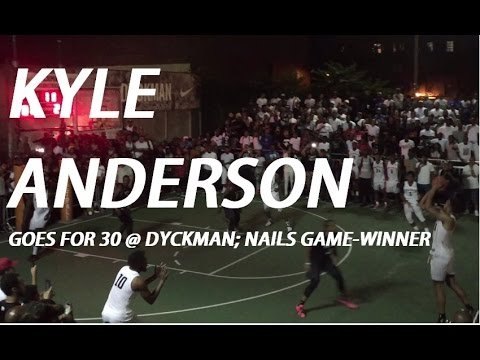 """Kyle """"SLOW MO"""" Anderson Goes for """"Calm 30"""" @ Dyckman, Nails Game-Winner!"""