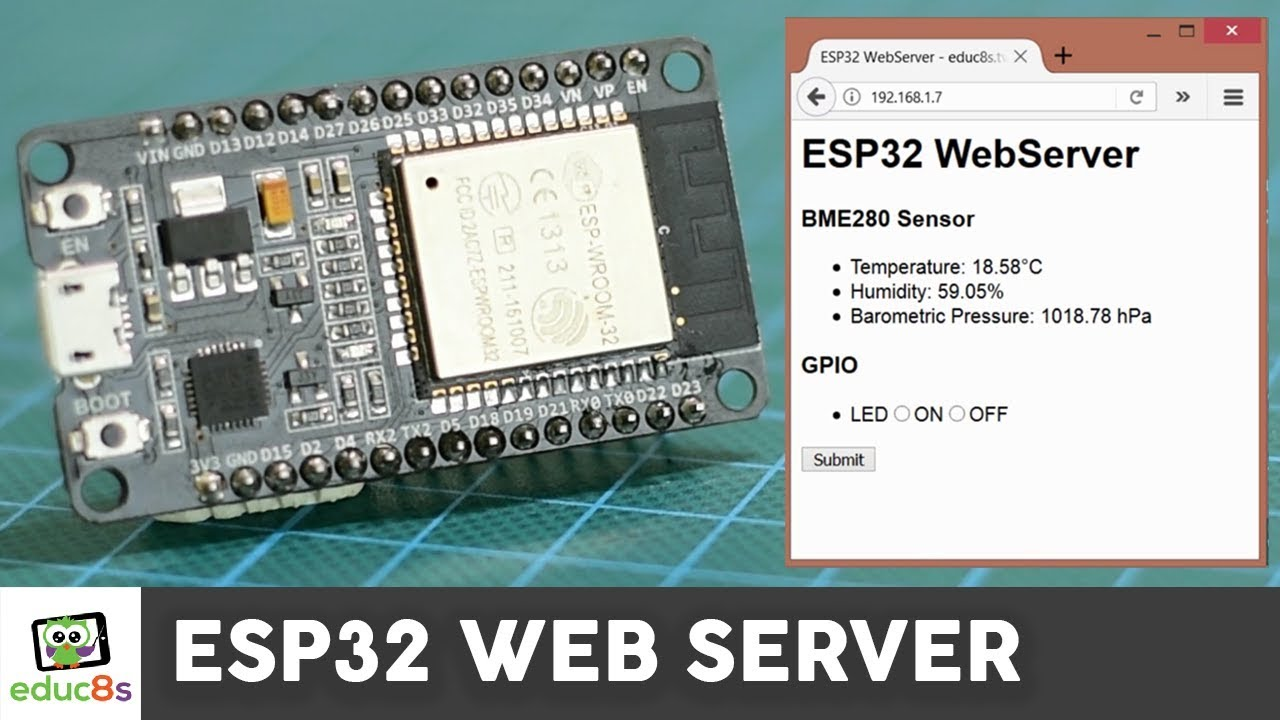 ESP32 Web Server Tutorial with a BME280 Sensor