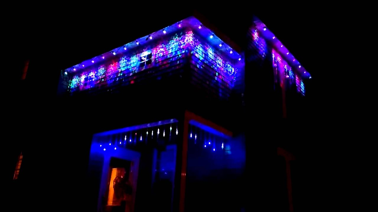 Projection Christmas lights - YouTube
