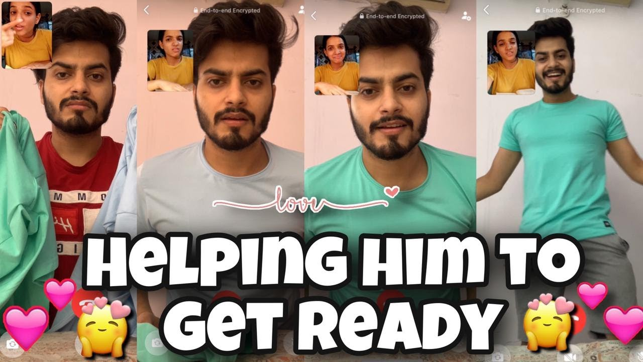 Long Distance Love | Helping Him To Get Ready ❤️🥰 | Whatsapp Love Status | Shubnandu | Couplegoals |
