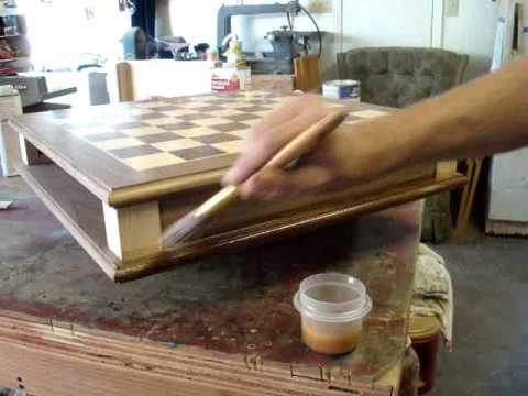 Build A Chess Board Pt 6 Sealing And Finishing Youtube