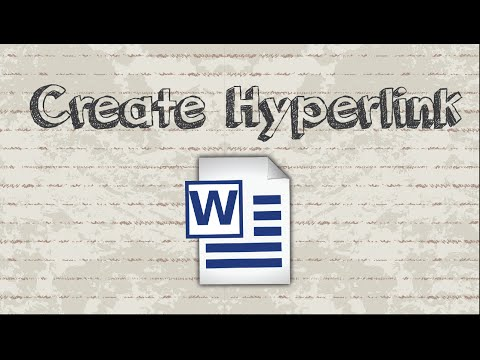 How to create hyperlink in Microsoft Word