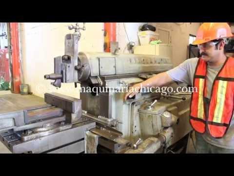 Cepillo cincinnati 24 maquinaria chicago youtube for Consola de tipo industrial
