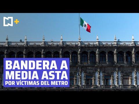 Bandera de México ondea a media asta por víctimas de Línea 12 del Metro CDMX