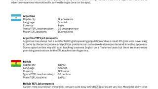 TEFL/TESOL Guide - Argentina, Bolivia & Brazil | International TEFL and TESOL Training (ITTT)