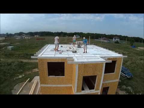 видео: МПС Алматы. Дом из СИП панелей. Начало монтажа каркаса крыши.Суббота. 23.07.16.