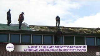 MABISZ: a három milliárd forintot is megközelíti a februári viharkárok után kifizetett összeg