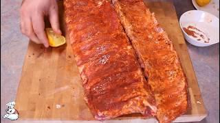 СВИНЫЕ РЕБРЫШКИ В ДУХОВКЕ! Как приготовить нежные и сочные свиные ребрышки / OvenBakedRibs ENG Subs.