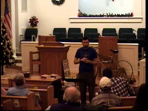Lecture on Prepping Based on Biblical Prophecy by 7 Trumpets Prepper in South Carolina 1/9/15